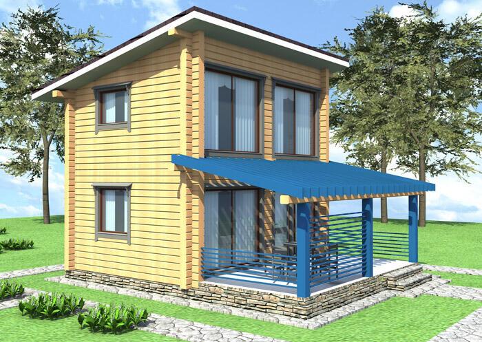 Проекты деревянных домов коттеджей бань готовые типовые из